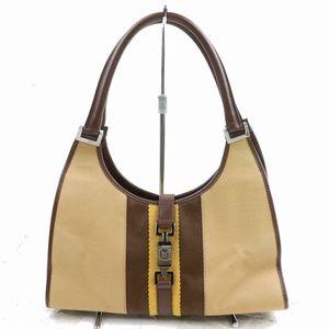 Auth Gucci Shoulder Bag Canvas #1465G61